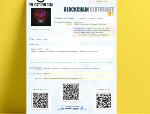 Certificato NFT – PDF